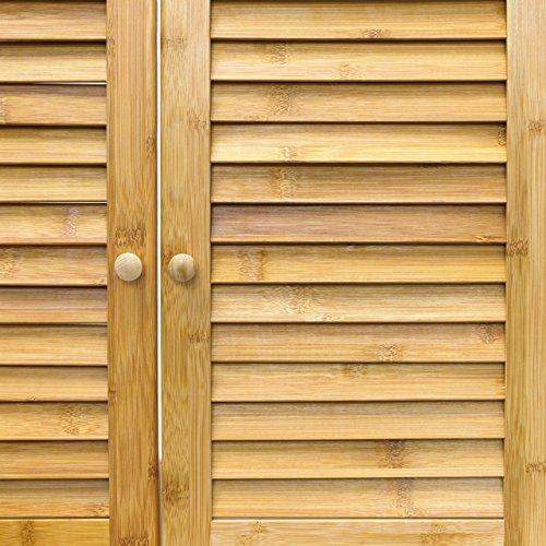 Relaxdays Waschbeckenunterschrank LAMELL aus Bambus H x B x T: ca. 60 x 67  x 30cm Unterschrank fürs Waschbecken oder den Waschtisch ...