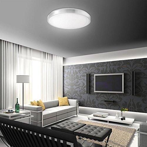 SAILUN 15W LED Panel Warmweiß/Kaltweiß Moderne Deckenlampe Wandlampe  Energiespar Deckenleuchte für Wohnzimmer, Korridor, Wand, Bad und Decke ...