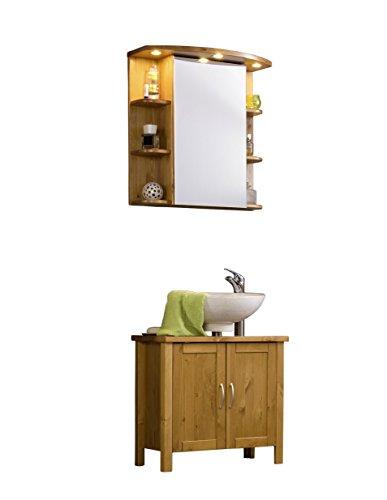Badmöbel holz |  badezimmermöbel holz | badmöbel set holz | Badmöbelset mit Spiegelschrank