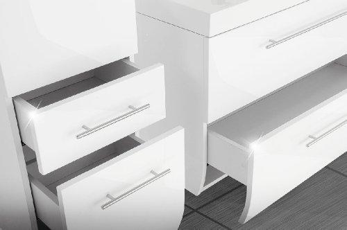 sam design badm bel set z rich 3 teilig in wei exklusives designer badezimmer set komplett. Black Bedroom Furniture Sets. Home Design Ideas