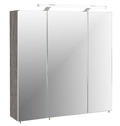 schildmeyer spiegelschrank holz dekor 70 x 17 x 67 cm. Black Bedroom Furniture Sets. Home Design Ideas