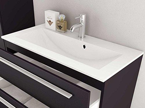 sieper badm bel badm belset libato unterschrank 90cm breit anthrazit hochglanz badm bel. Black Bedroom Furniture Sets. Home Design Ideas