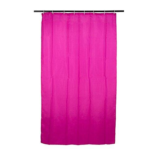Duschvorhang pink , 120x200 cm Duschvorhang | Duschvorhang mit Kunststoffringen