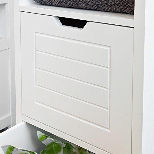 SoBuy® FRG127-W Badkommode Badschrank mit Fußpolster Kommode Badezimmer weiß