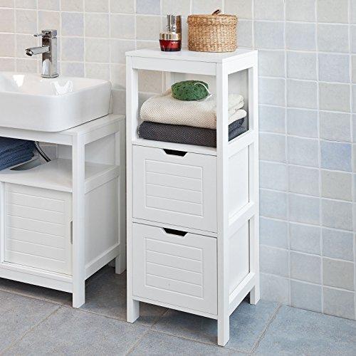 SoBuy® Badkommode, Badschrank, Kommode, Badezimmer, FRG127-W ...