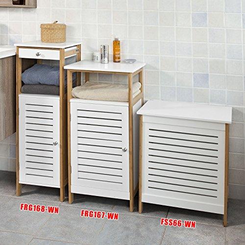 Sobuy Badkommode Badschrank Kommode Mit Tur Badezimmer Aus Mdf