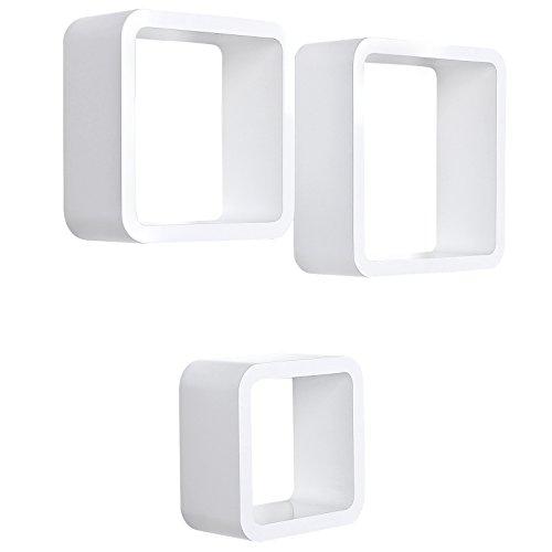 Songmics Lws104 3er Set Wandregal Cube Regal Belastbarkeit 15 Kg