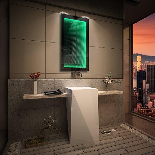 FORAM Spiegel LED Badezimmerspiegel Beleuchtung 3D Tieffeneffekt nach Maß  von Artforma | Wandspiegel Badezimmerspiegel | Spiegel nach Maß