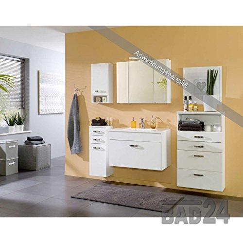 spiegelschrank 80 capri weiss inkl beleuchtung steckdose. Black Bedroom Furniture Sets. Home Design Ideas