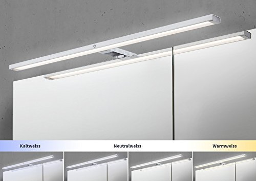 Spiegelschrank Bad 80 cm LED Beleuchtung mit Farbwechsel doppelseitig  verspiegelt