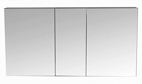 seidenglanz Badezimmer 3-türiger Spiegelschrank   Badezimmer Spiegelschrank  anthrazit