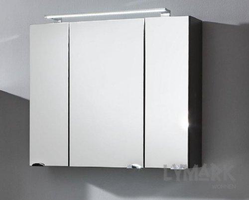 Spiegelschrank roma anthrazit 3 t rig for Spiegelschrank anthrazit