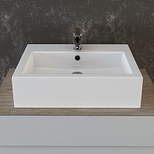 vilstein keramik waschbecken aufsatz waschbecken h ngewaschbecken waschtisch rechteckig eckig. Black Bedroom Furniture Sets. Home Design Ideas