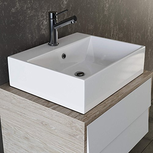 vilstein keramik waschbecken h ngewaschbecken aufsatzwaschbecken waschtisch rechteckig eckig. Black Bedroom Furniture Sets. Home Design Ideas