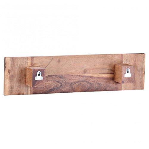 wohnling handtuchhalter massivholz akazie 50 cm wandregal landhaus stil bad zubeh r badezimmer. Black Bedroom Furniture Sets. Home Design Ideas