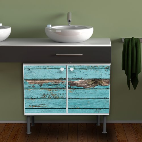 waschbeckenschrank unterschrank badschrank badm bel waschtisch mit motiv blaue holzlatten. Black Bedroom Furniture Sets. Home Design Ideas