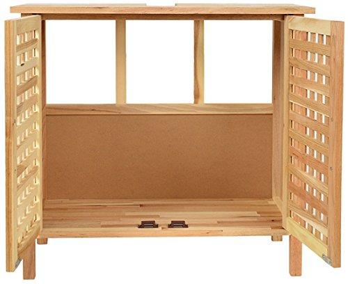 waschbeckenunterschrank mit 2 t ren walnussholz holz. Black Bedroom Furniture Sets. Home Design Ideas