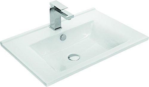 Häufig ZLATA Badmöbel Set 3tlg mit Waschbeckenschrank, Keramik Waschtisch FY24