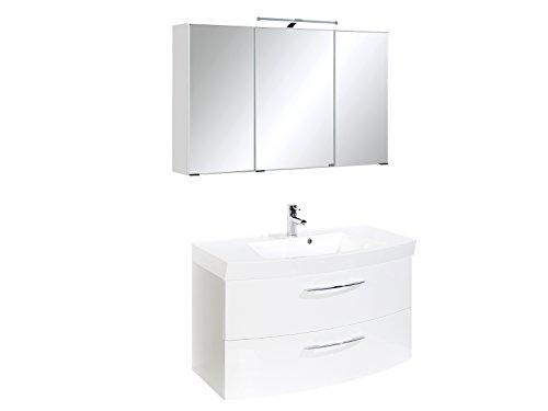Badezimmer Spiegelschrank weiß-hochglanz