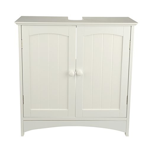 waschtischunterschrank holz mdf wei 30 x 60 x 30 cm aussparung f r siphon verstellbarer. Black Bedroom Furniture Sets. Home Design Ideas