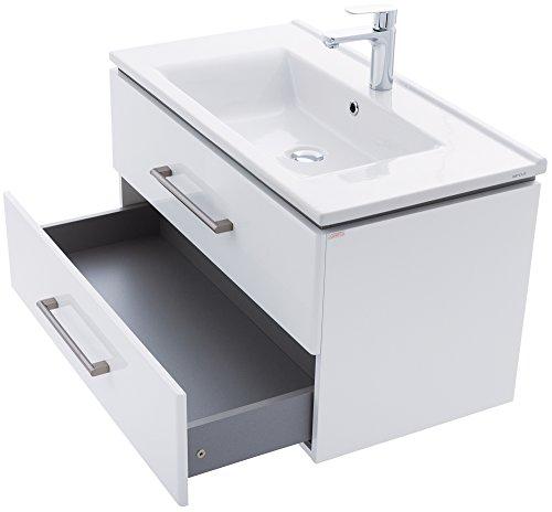 zlata badm bel set 3tlg mit waschbeckenschrank keramik waschtisch und hochschrank ma e. Black Bedroom Furniture Sets. Home Design Ideas