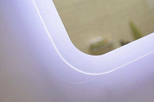 modernes lichtspiegel wandspiegel badspiegel gs045n mit led beleuchtung tageslichtwei ip44. Black Bedroom Furniture Sets. Home Design Ideas