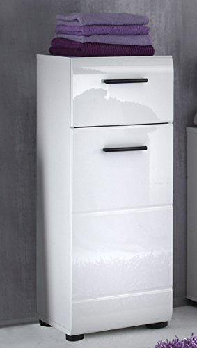 trendteam sn80201 bad kommode schrank weiss hochglanz bxhxt 30x79x31 cm. Black Bedroom Furniture Sets. Home Design Ideas