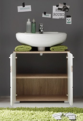 Trendteam Smart Living Badezimmer Waschbeckenunterschrank Unterschrank Set One 60 X 56 X 34 Cm In Korpus Eiche San Remo Hell Nb Online Kaufen
