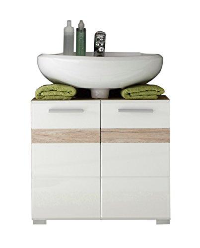 badmöbel unterschrank hochglanz | weiß-hochglanz badmöbel unterschrank