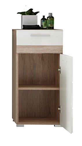 trendteam so80296 badezimmer kommode eiche san remo hell. Black Bedroom Furniture Sets. Home Design Ideas