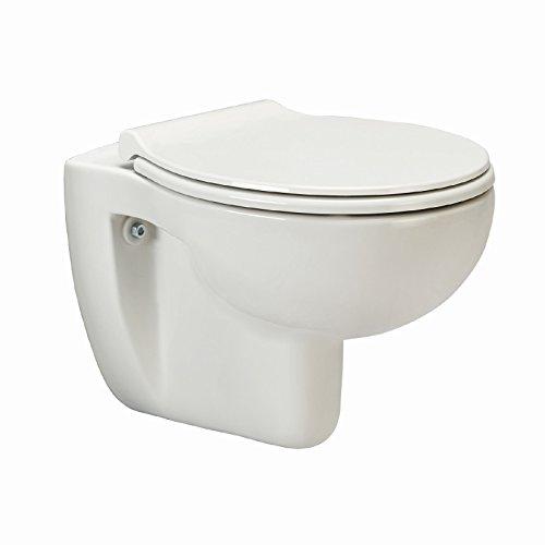 AquaSu Wand-WC-Set, Tiefspüler, Spülrandlose Toilette