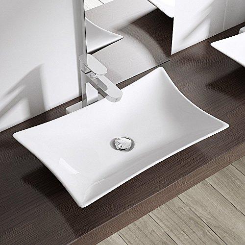 aufsatzwaschbecken br ssel891 bth 56 5x37 5x10cm in wei design waschbecken aus keramik. Black Bedroom Furniture Sets. Home Design Ideas