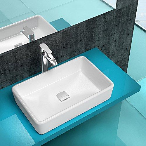 aufsatzwaschbecken waschschale m nchen6101 mit nano beschichtung in wei mit standard. Black Bedroom Furniture Sets. Home Design Ideas