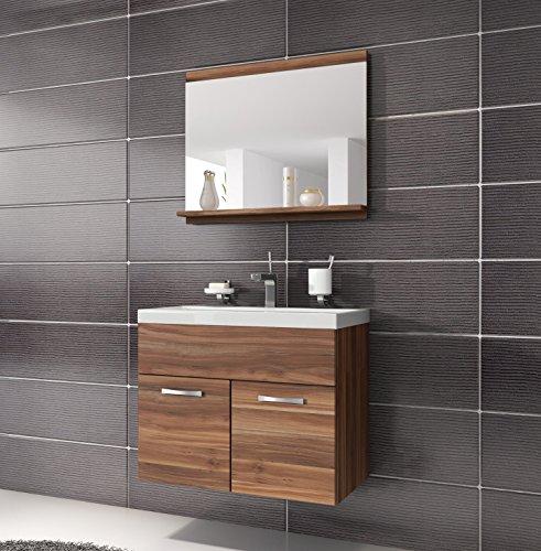 badezimmer badm bel montreal 02 60cm waschbecken walnuss unterschrank waschtisch spiegel m bel. Black Bedroom Furniture Sets. Home Design Ideas