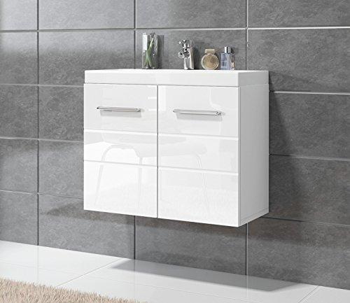 badezimmer barm bel toledo 01 60 x 35 cm hochglanz wei unterschrank schrank waschbecken. Black Bedroom Furniture Sets. Home Design Ideas