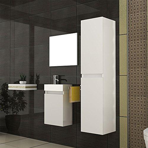 badm bel waschbecken mit unterschrank design spiegel weiss modell lugano 400. Black Bedroom Furniture Sets. Home Design Ideas