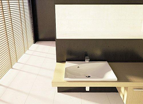 einbau waschbecken 60x50x11 3cm eckig 60cm einbau. Black Bedroom Furniture Sets. Home Design Ideas