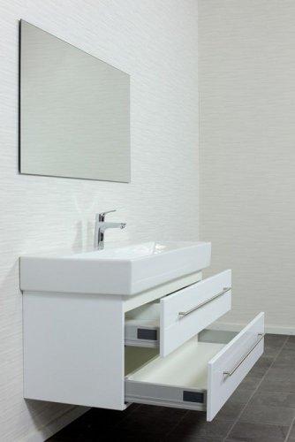 emotion memento120cm000101de waschbecken mit unterschrank holz wei hochglanz 120 x 45 x 47. Black Bedroom Furniture Sets. Home Design Ideas