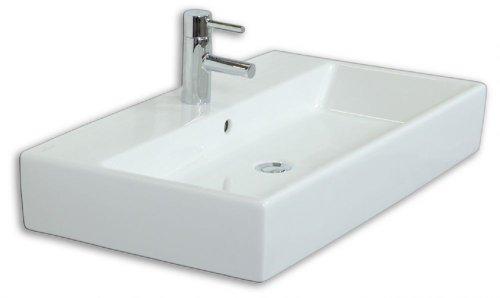 Emotion memento80cm000101de waschbecken mit unterschrank holz wei hochglanz 80 x 45 x 47 cm - Waschbecken mit unterschrank holz ...