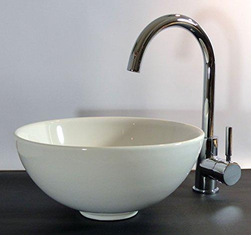 keramik aufsatz waschbecken waschschale rund 32cm. Black Bedroom Furniture Sets. Home Design Ideas