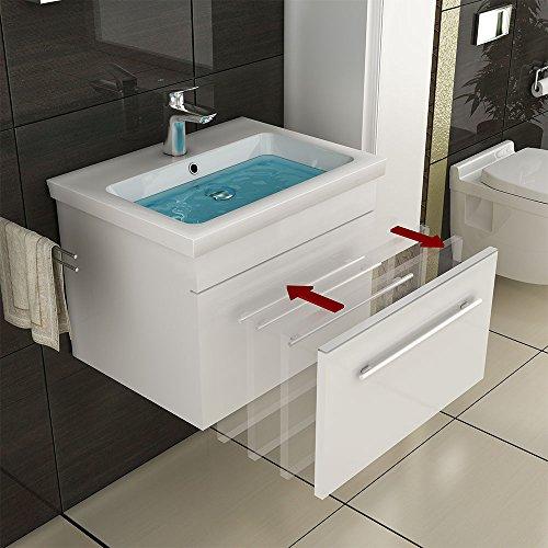 keramik waschbecken mit nanobeschichtung unterschrank. Black Bedroom Furniture Sets. Home Design Ideas