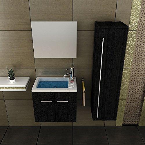 Mineralguss Waschbecken Mit Unterschrank 50 Cm Breit Spiegel Bad Design Badezimmer Becken Waschplatz