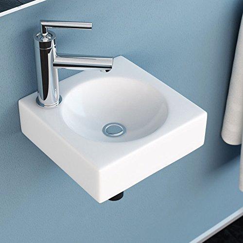 neg waschbecken uno30h klein eckig h nge waschschale waschtisch wei mit flachem rand und. Black Bedroom Furniture Sets. Home Design Ideas