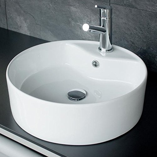 rundes design keramik aufsatz waschbecken waschschale. Black Bedroom Furniture Sets. Home Design Ideas