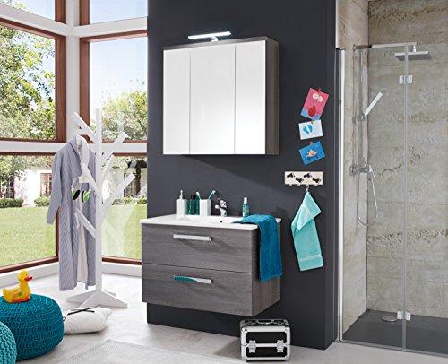 trendteam ado31321 h nge waschbeckenunterschrank inklusive waschbecken rauchsilber bxhxt. Black Bedroom Furniture Sets. Home Design Ideas