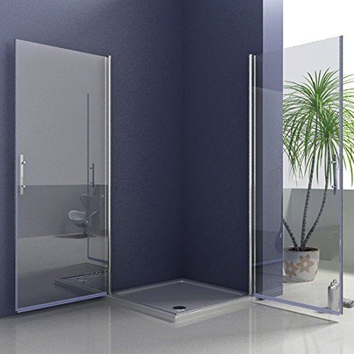 100x80x195cm duschkabine duschabtrennung eckdusche nano pendelt r duscht r mit duschtasse. Black Bedroom Furniture Sets. Home Design Ideas