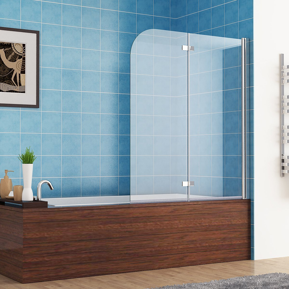 110 X 140 Cm Badewannen 2 Tlg Faltwand Aufsatz 180 Duschwand