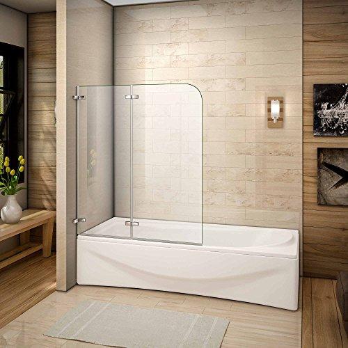 110x140cm Duschabtrennung Badewannen Faltwand Aufsatz