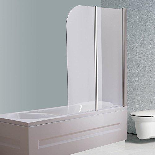 133x108 cm Glas Badewannenaufsatz für Dusche | Badewannenaufsatz | Duschabtrennung