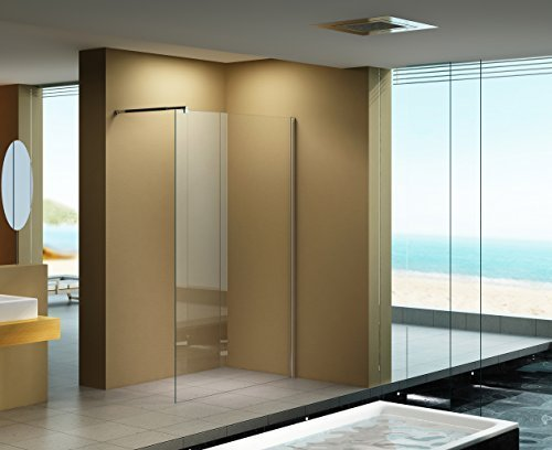 140x200 cm duschabtrennung lily klarglas duschwand walk in dusche 10 mm esg sicherheitsglas. Black Bedroom Furniture Sets. Home Design Ideas